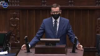 Mateusz Morawiecki o wotum nieufności wobec wicepremiera Jarosława Kaczyńskiego