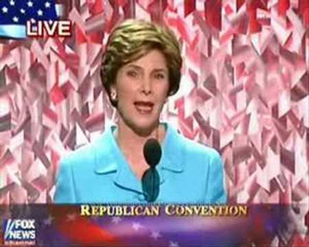 LAURA BUSH [2004 Republican National Convention] part 2/3