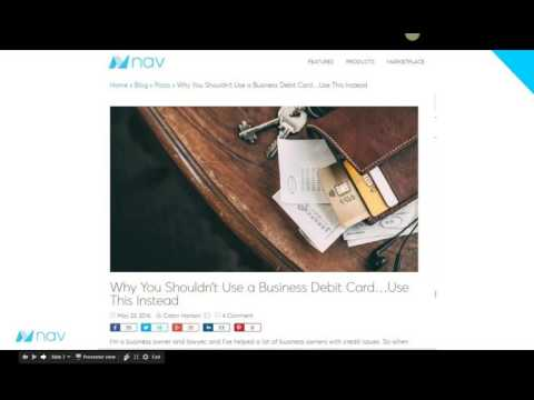 How Smart Business Owners Use Credit Cards - Bplans Webinar feat. Nav