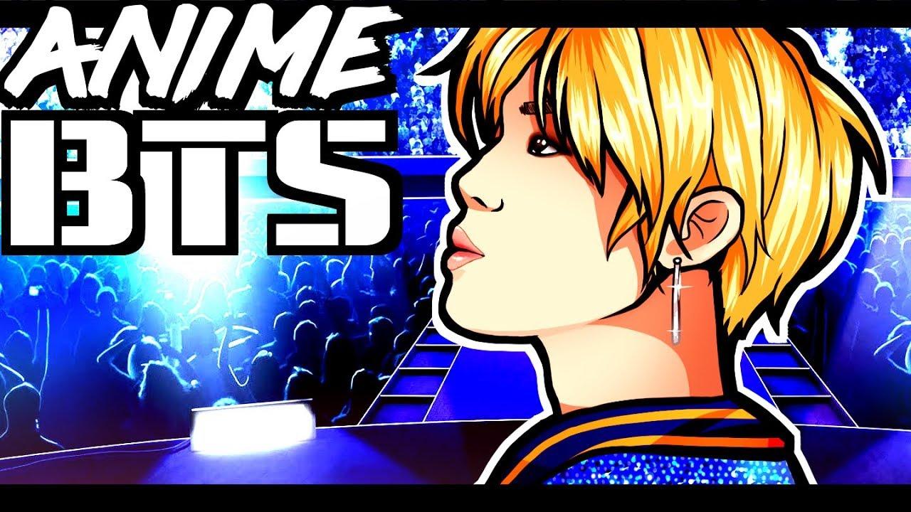 BTS ANIME Rap Monster Jimin J Hope ART CHALLENGE