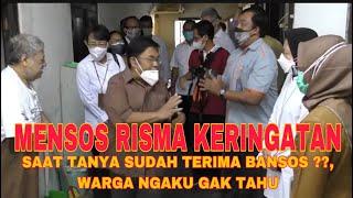 Blusukan di Kampung2 Kecil Yogya, Mensos Risma Interview Satu-satu Warga Penerima Bansos