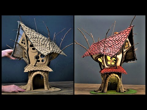 ❣DIY Fairy TreeHouse Using Cardboard❣