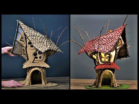 ❣DIY Fairy TreeHouse Using Cardboard❣