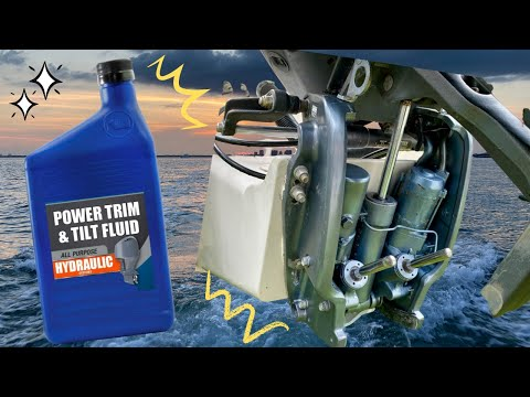 How to add or refill your Trim and tilt fluid on an outboard.