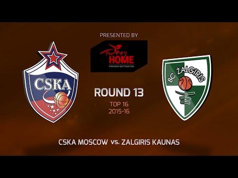 Highlights: CSKA Moscow-Zalgiris Kaunas