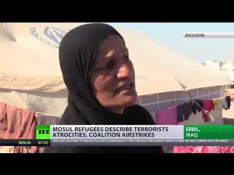 'ISIS cuts heads, breaks legs & provokes airstrikes': Refugees describe Mosul terror (EXCLUSIVE)