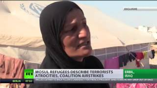 'ISIS cuts heads, breaks legs & provokes airstrikes'  Refugees describe Mosul terror (EXCLUSIVE)