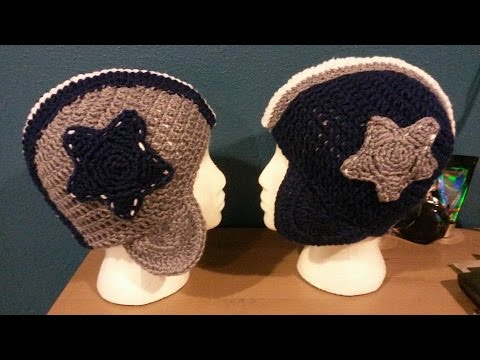 Tutorial How To Crochet Dallas Cowboys Football Helmet Beanie By