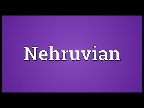 Nehruvian Meaning