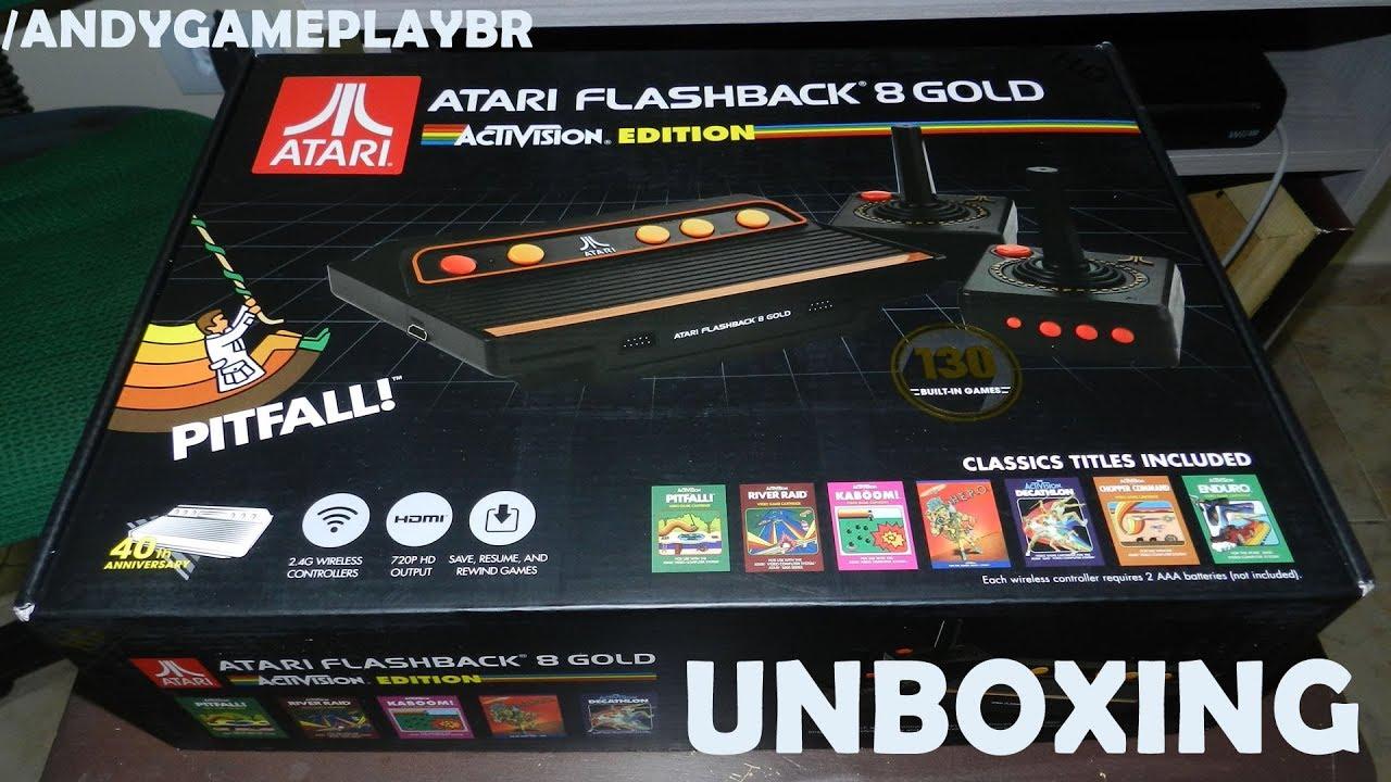 Unboxing Atari Flashback 8 Gold Activision Edition