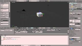 BGE2 - Python in Blender Game Engine - Rotate Object - Linux.avi