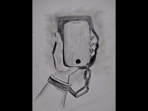 Phone Trapped Hand Sketch How To Draw A Meaningful Drawing Youtube