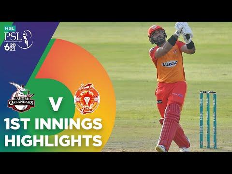 1st Innings Highlights | Lahore Qalandars vs Islamabad United | Match 20 | HBL PSL 6 | MG2T