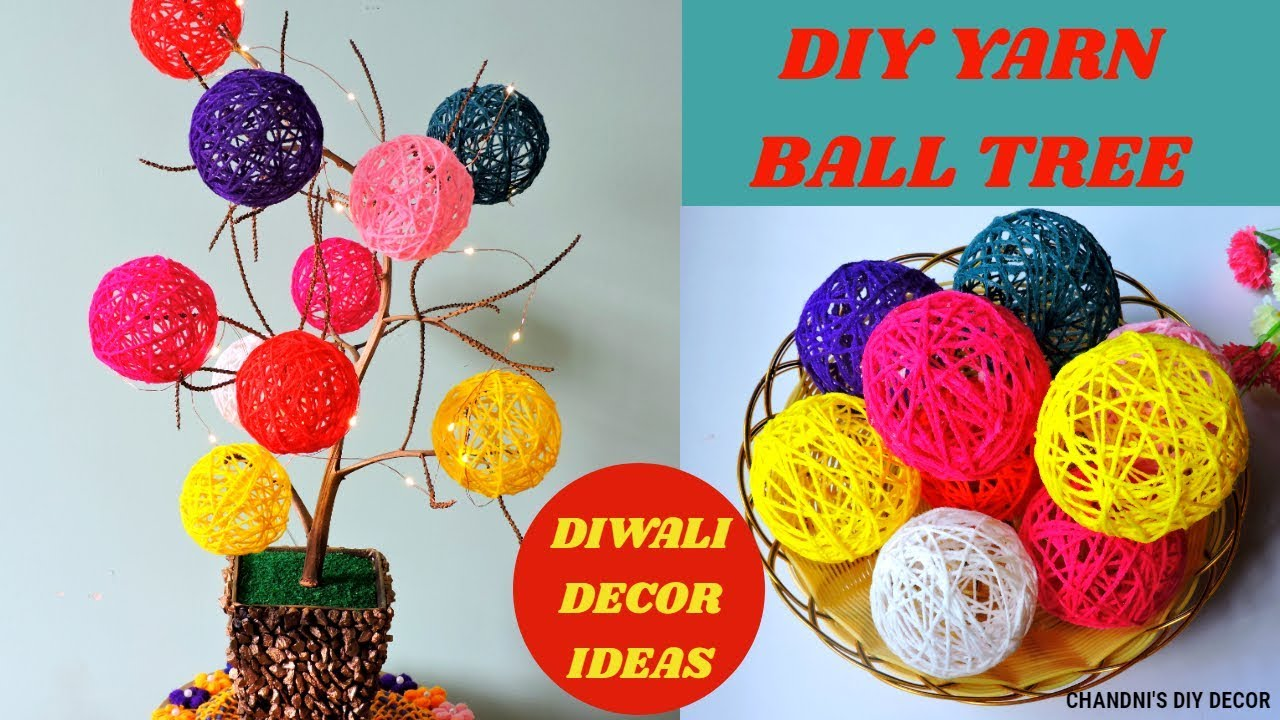 Diy Yarn Ball Tree How To Make Small Yarn Ball Yarn Orbs