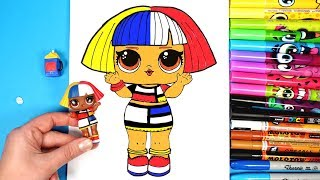 How to Draw LOL Doll Shapes | LOL Surprise Under Wraps Opening Drawing and Coloring for Kids