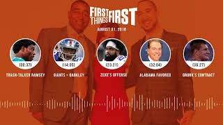 First Things First audio podcast(8.31.18) Cris Carter, Nick Wright, Jenna Wolfe | FIRST THINGS FIRST