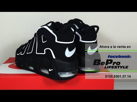 reputable site cbe0d 9a79e Tenis Nike Air More Uptempo negro blanco Scottie Pippen - a la venta en  México - YouTube