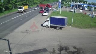Страшное ДТП на Ленинградском пр-те. MAN vs ВАЗ2110  16.07.17.