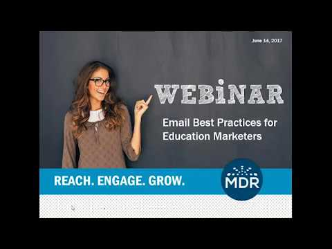 Email Best Practices for Education Marketers Webinar