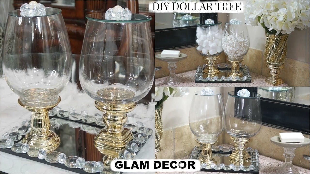Diy Home Organizing Ideas Easy Diy Dollar Tree Bathroom Decor Glam Apothecary Jars Glam Tray Youtube