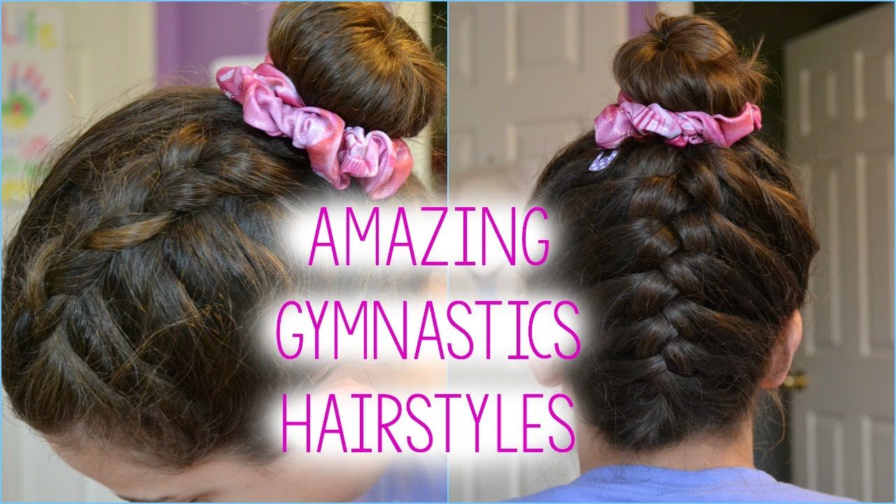 3 hairstyle ideas for gymnasts!