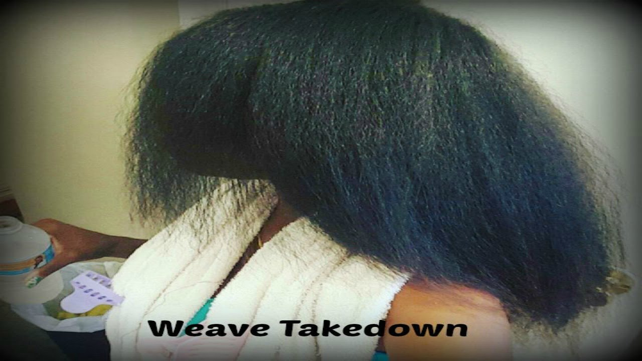 Weave Take Down 2015 Damage Free Method On Natural Hair Youtube