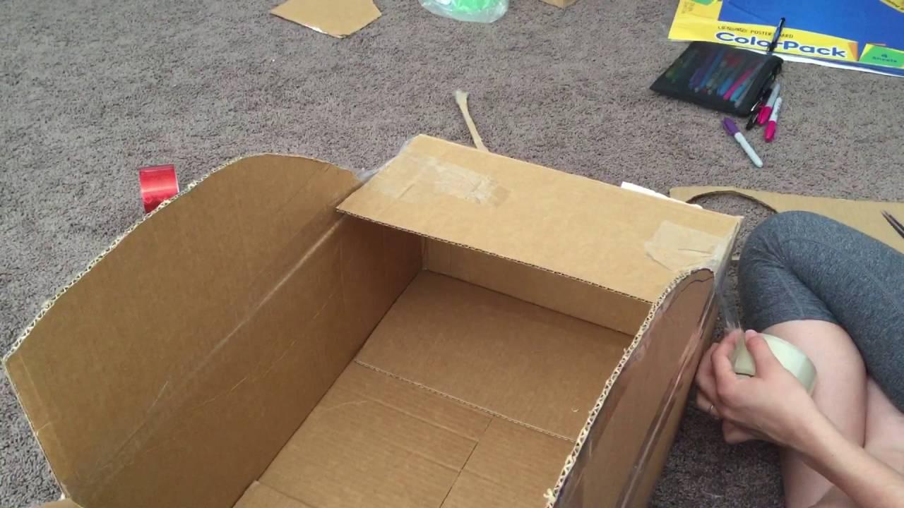 Como hacer carro con una caja de carton pt 4 youtube - Como forrar una caja con tela ...