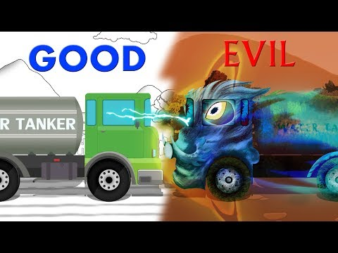 Good and Evil | Water Tanker | Vehicles Battles | Kids Video