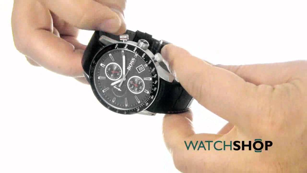 Hugo Boss Men's Rafale Chronograph Watch (1513390) - YouTube
