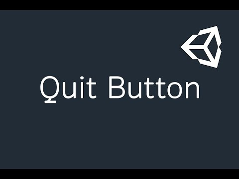 Quit Button Using in Unity  (Part-39)