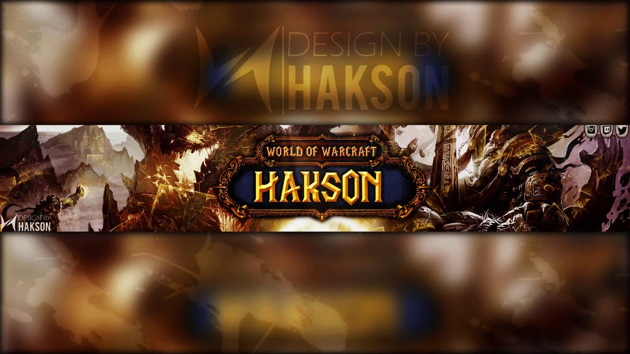 Gaming Banner | World of Warcraft YouTube Banner Template PSD - YouTube