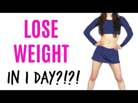 How to LOSE WEIGHT in 1 DAY?!