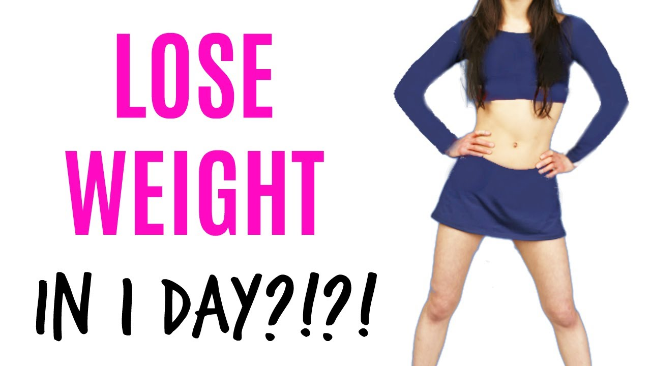 how to lose weight in 1 day exercise