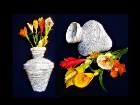 How To Make A Flower Vase With Newspaper Best Out Of Waste Diy