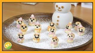 Làm bánh người tuyết tí hon - Snowman cake