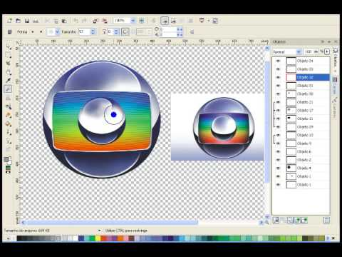 Corel criando o logo da globo youtube - Oglo o ...