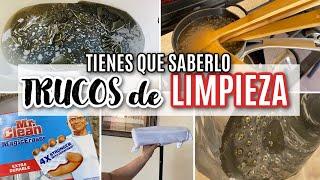 TRUCOS DE LIMPIEZA. TIPS O HACKS de limpieza diara del hogar.