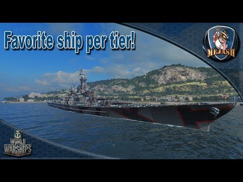 Favorite Ship Per Tier! What is yours? - YouTube