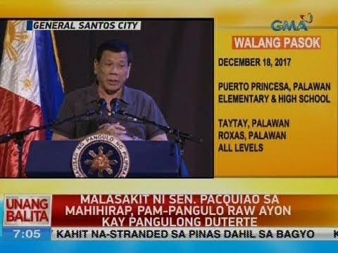 UB: Pangulong Duterte, espesyal na panauhin sa 39th birthday celebration ni Sen. Pacquiao