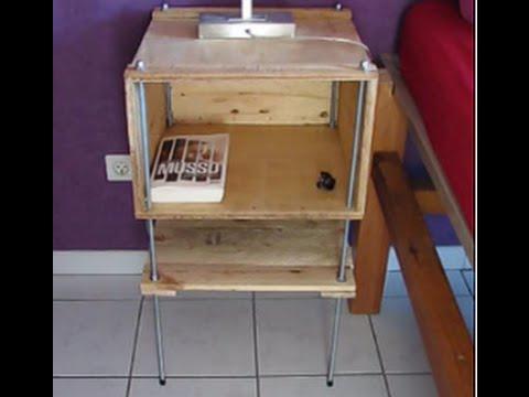 Fabrication meuble avec une caisse en bois youtube for Meuble caisse bois vin