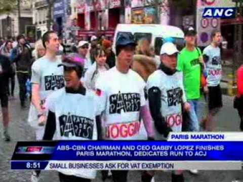 Gabby Lopez dedicates Paris Marathon run to Angelo Castro Jr.