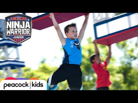 AMERICAN NINJA WARRIOR JUNIOR | Paxton From Ninja Kidz TV Hangs On For The Win!