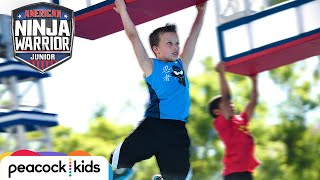 AMERICAN NINJA WARRIOR JUNIOR | Paxton from Ninja Kidz TV Hangs on for the Win!