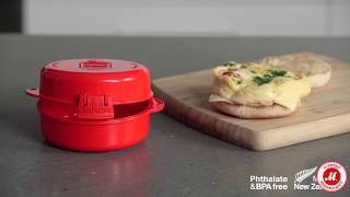 Контейнер для микроволновой печи Sistema Microwave Easy Eggs 271 мл Red (1117)