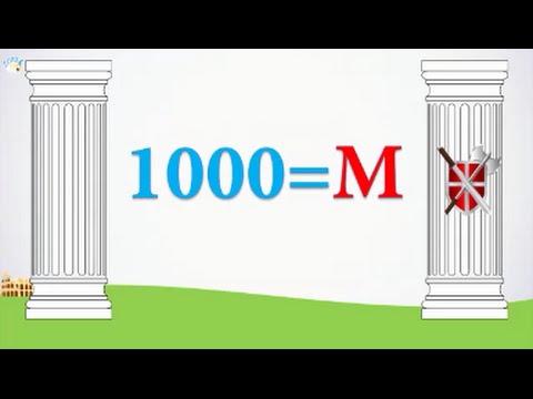 Números Romanos Del 1 Al 1000 Números Romanos Para Niños Youtube