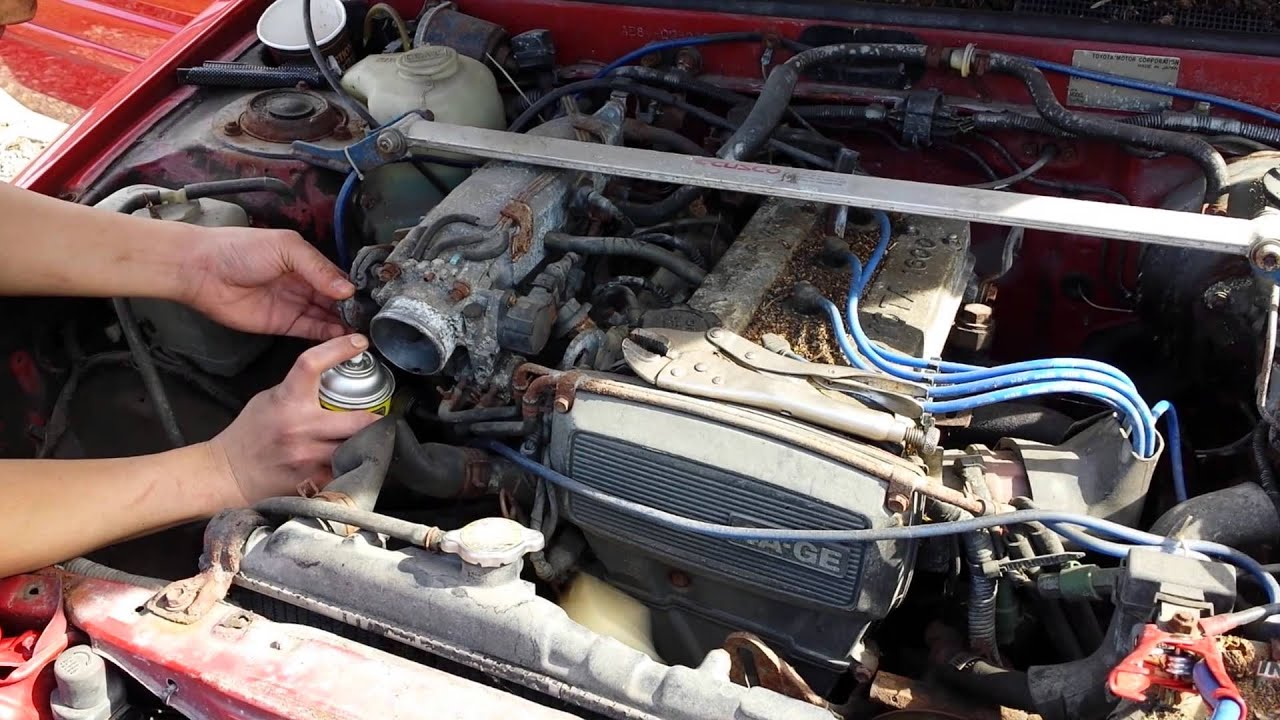 Toyota Corolla Gts Ae86 4age Engine Running Off Carb Cleaner