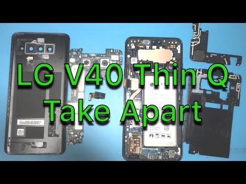 LG V40 Teardown - How To Repair - Screen Glass LCD