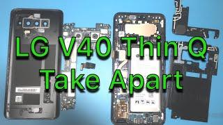 LG V40 ThinQ Teardown - How To Repair - Screen Glass LCD - Charging Port