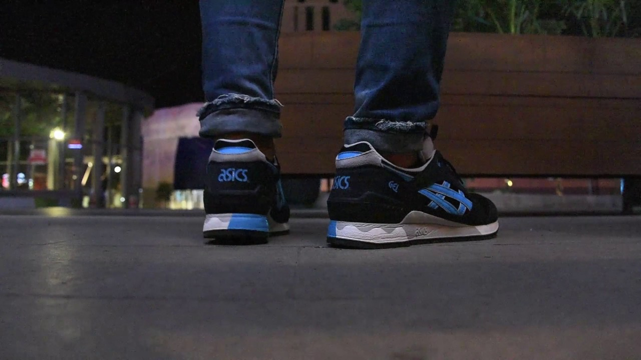 SNEAKREVIEW  ASICS GEL RECEPTOR BLACK ATOMIC BLUE Review On Feet ... 6ecd20b22