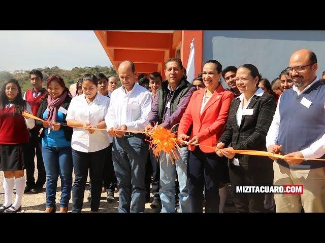 Inauguran las instalaciones del EMSAD 51 en Jungapeo
